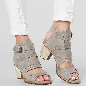 Sorel Nadia Buckle Kettle Grey Sandals 6 or 11 NEW